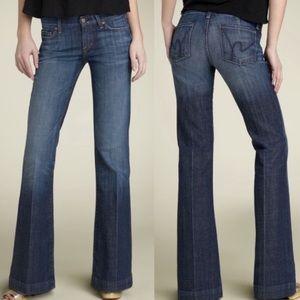 COH   Faye #003 Low Waist Full Leg Stretch Jeans
